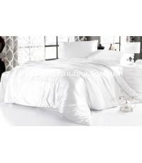 ผ้านวมคลุมเตียง ผ้าซาตินแท้ 440 เส้น ขนาด 6 ฟุตพิเศษ (ขนาด 90 นิ้ว x 100 นิ้ว) สีขาว