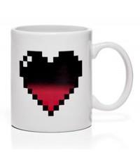 แก้วน้ำเปลี่ยนสีตามอุณหภูมิ รูปหัวใจ