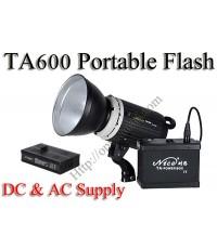 TA600 Portable Double Power Studio Strobe Flash Light 600Ws
