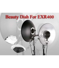 White Bounce Beauty Dish Reflector For Ring Flash EXR400