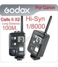 Godox Cells II X2 Wireless Speedlite Transceiver Trigger High Speed Sync