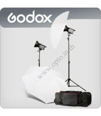 LQ1000 Set1 2xContinuous Lighting Digital Quartz Light Photography with Dimmer 1000W