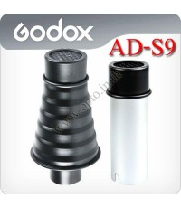 AD-S9 Snoot with Grid For Godox AD180 AD360 Flash
