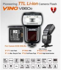 V860C Canon Auto E-TTL II Kit Speedlight Li-ion Battery Hi-SpeedSync 1/8000 LCD Panel แฟลชออโต้Godox