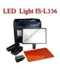IS-L336 Professional LED Video Light + Battery F770 + Charger ไฟต่อเนื่องสำหรับถ่ายภาพและวีดีโอ