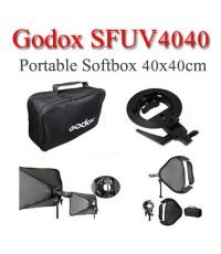 Godox SFUV4040 S-Type DSLR speedlite Flash Bracket With SoftBox 40x40cm ซอฟท์บ๊อกซ์แฟลชหัวค้อน