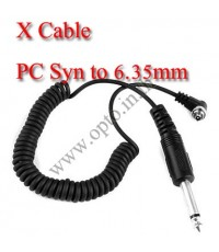 PC Sync Cable/Cord For Camera  Flash  Trigger with 6.35mm