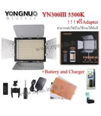 YN300 III 5500k YongNuo LED Video Light+BatteryF770+Charger ไฟต่อเนื่องสำหรับถ่ายภาพและวีดีโอ