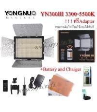 YN300 III 3300-5500k YongNuo LED Video Light+BatteryF770+Charger ไฟต่อเนื่องสำหรับถ่ายภาพและวีดีโอ