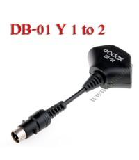 DB-01 Y Cable 1 to 2 For Godox AD180 AD360 Flash สายขยายช่องการใช้งาน