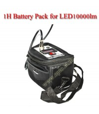 1H Battery Pack For LED10000lm 5500K Sport Light for Video equivalent 1000w แบตเตอรี่ไฟLEDสปอร์ตไลท์