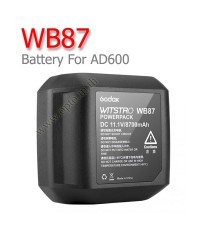 WB87 Battery for Godox AD600 AD600B AD600BM AD600M 8700mAh แบตเตอรี่โกดอก
