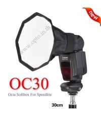 OC30 Octa MiniBox Portable softbox for Speedlite(Universal type) 30cm ซอฟท์บ๊อกซ์แปดเหลี่ยม