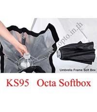 KS95 Bowen\'s Mount, Umbrella SoftBox With Grid, Octa 95CM ซอฟ์ทบ๊อกซ์แปดเหลี่ยม