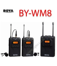 BY-WM8 Boya Wireless UHF Dual-Channel Microphone For DSLR Camera ไมค์โครโฟนไร้สายสำหรับกล้องDSLR