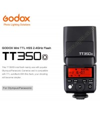 TT350O Flash Godox For Olympus DSLR and Mirroless TTL HSS Wireless Trigger 2.4Ghz Flash แฟลชหัวค้อน