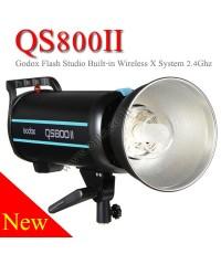 QS800II Godox Professional Studio Strobe Flash Light 800Ws Built-in Wireless X System แฟลชสตูดิโอ