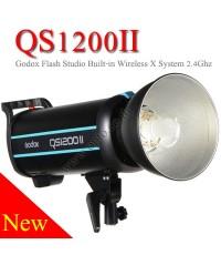 QS1200II Godox Professional Studio Strobe Flash Light 1200Ws Built-in Wireless X System แฟลชสตูดิโอ