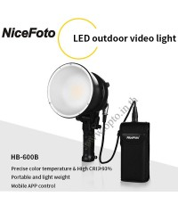 HB-600B LED outdoor video light 60W แสงสีขาว 5500K (Adapter+Battery) ไฟLEDสปอร์ตไลท์พร้อมแบตเตอรี่