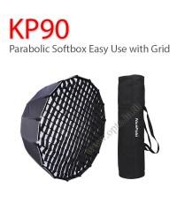 KP90 Parabolic Umbrella Softbox+Grid Bowen Mount Studio Flash, 90CM พาราโบลิก ซอฟท์บ๊อกซ์ ไฟสตูดิโอ