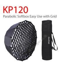 KP120 Parabolic Umbrella Softbox+Grid Bowen Mount Studio Flash 120CM พาราโบลิก ซอฟท์บ๊อกซ์ ไฟสตูดิโอ