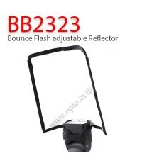 BB2323 Bounce Flash adjustable Reflector Diffuser แผ่นสะท้อนปรับมุมได้