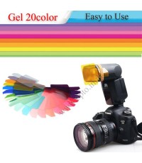 Gel Flash 20 Color for Speedlite Canon Nikon Sony Olympus Fuji เจลสีสำหรับแฟลช
