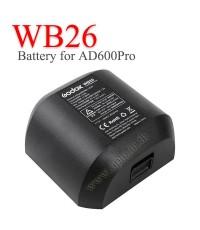 WB26 Battery for Flash Godox AD600Pro แบตเตอรี่โกดอก
