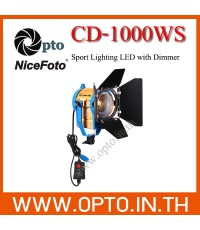 CD-1000WS 5500K NiceFoto LED100w Sport Light for Video ไฟLEDสปอร์ตไลท์สำหรับวีดีโอ