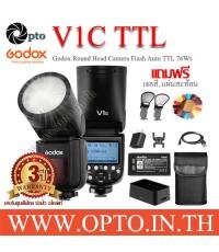 V1C Godox Flash Auto TTL For Canon V1 Series with Battery แฟลชโกดอกพร้อมแบตเตอรี่