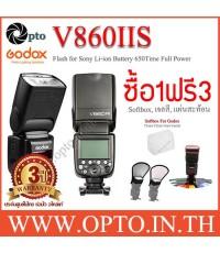 V860IIS Sony Auto TTL Kit Speedlight Li-ion Battery Buit in X1Receive LCD Panel แฟลชออโต้Godox