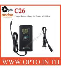 C26 Charger AC Adapter for Godox AD600Pro WB26 ที่ชาร์ตสำหรับแฟลชโกดอก