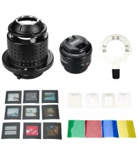 SN-29 NiceFoto Creative Snoot Flash Bowens Mount + YONGNUO YN50mm F1.8 Lens ตัวสร้างแบบแสง