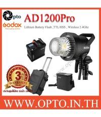 AD1200Pro Godox HSS Sync Wireless Flash Portable+Battery TTL AD1200 แฟลชพกพามีแบตเตอรี่