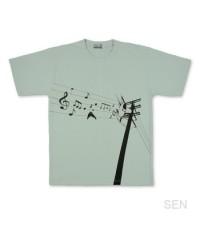เสื้อยืดDesign Sen เสาไฟฟ้า/สีเทาอ่อน/XL