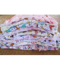ชุดนอนเด็ก ไซส์จิ๋ว 6 M ชุดกางเกงใน กางเกงขาจั๊ม ผ้ายืด (แบบแขนตุ๊กตา กระดุมผ่าหน้า) คลิกดูลายเพิ่ม