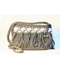กระเป๋าถักเชือกโพลี Knitting Bag