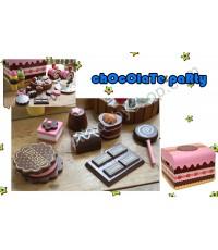 ของเล่นเสริมทักษะ ชุุดChocolate Party ช็อคโกแลตหลากหลายชนิด ในกล่องไม้สุดทันสมัย