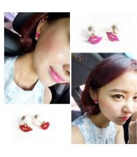 Lips On Pearl Earring (ม่วง/ชมพู/แดง)