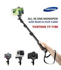 YUNTENG ไม้เซลฟี่ มีสาย AUX Cable Self Picture Monpod รุ่น YT-1188