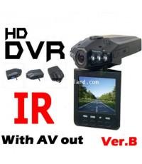 (B/N)กล้องติดรถยนต์ HD 720p อินฟาเรด บันทึกอุบัติเหตุ จับขโมย/กรีดรถ จอ2.5นิ้ว ซูม4X