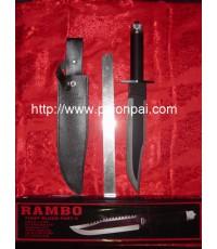 มีดเดินป่า LIFESAVING KNIFE[RAMBO]