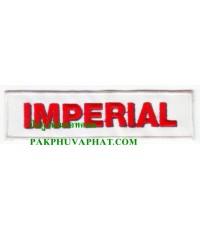 ปักอาร์มโลโก้บริษัทimperial ใช้สำหรับเย็บติดเสื้อทุกชนิด