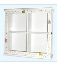 ตู้เก็บแผ่น CD/DVD 4 เหลี่ยมจตุรัส 4 ช่อง สีขาว (White)