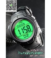 WORLD TIME สุดยอดนาฬิกาจับเวลากันน้ำลึก50M ปุ่มเทา