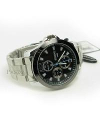 นาฬิกาข้อมือผู้ชาย แบบเข็ม หน้าปัดสีดำ มีพรายน้ำเรืองแสง ตัวเรือนและสายเป็นเหล็ก สแตนเลส (wm039)