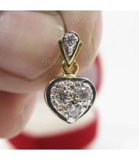 จี้เพชร รูปหัวใจ แบบเล็ก ๆ น่ารัก ตัวเรือนทอง 5ไมครอน จี้หัวใจ (PDi045)