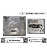 กล่องควบคุมเครื่อง ECU Toyota (โตโยต้า) เครื่อง 1ZZ-FE M/T 89661-17610 ป้ายดำ