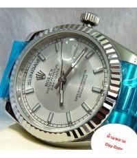 Rolex Men\'s Oyster Perpetual Day-Date สายเพรสซิเดนท์ บอกเวลาเป็นขีด