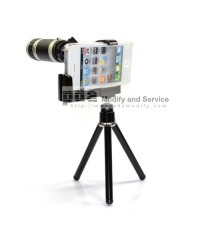 8 X Optical Zoom Telescope Camera Lens + Tripod Stand For iPhone 4